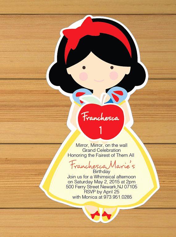 Snow White Mirror Invitation Best Of Snow White Invitation Printed