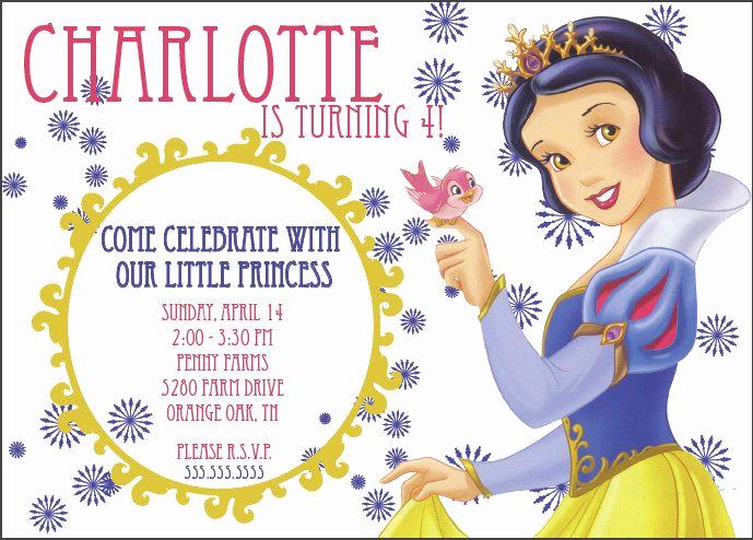 Snow White Mirror Invitation Elegant Snow White Birthday Party Invitations