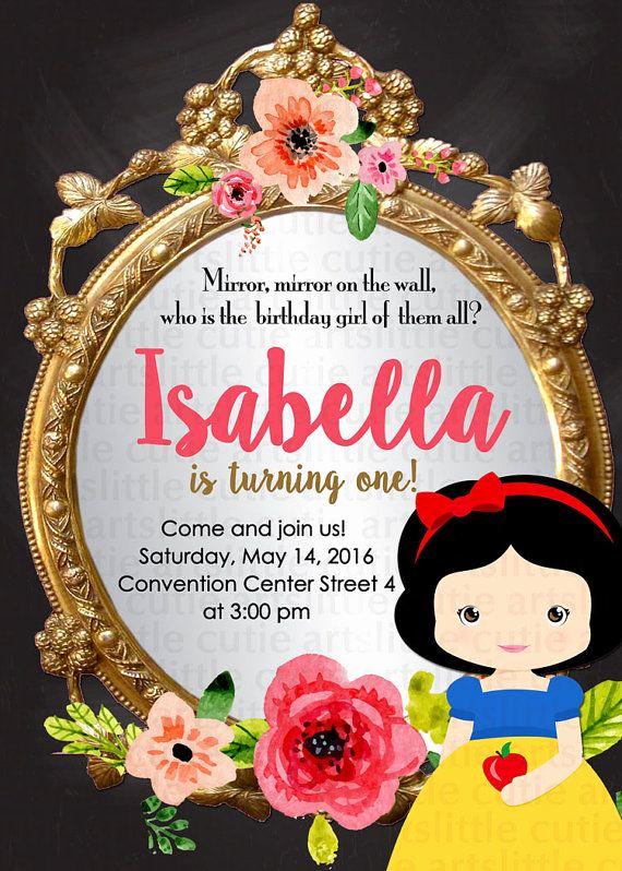 Snow White Mirror Invitation Fresh Snow White Invitation Snow White Birthday Invitation Snow