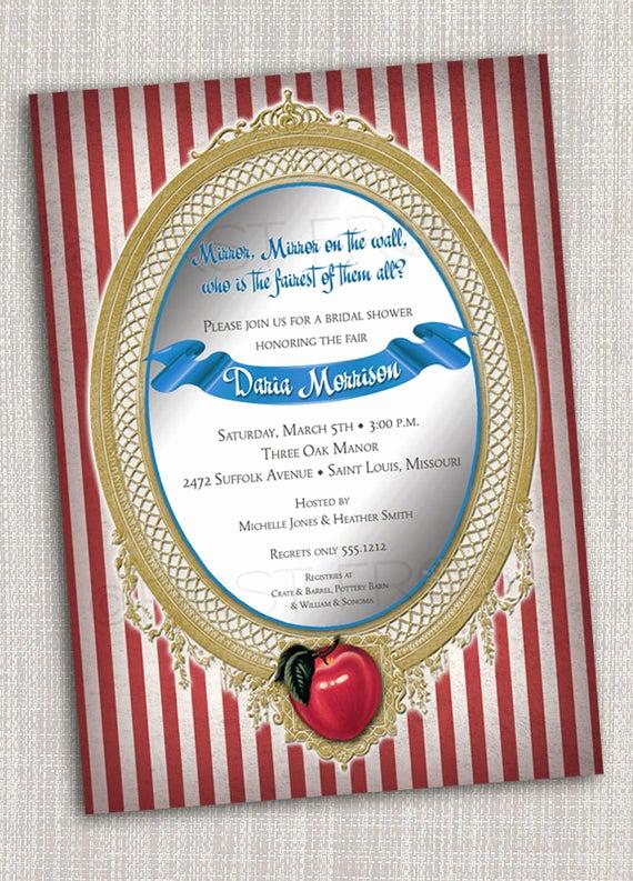 Snow White Mirror Invitation Inspirational Vintage Fairy Tale Mirror Apple Snow White Printable