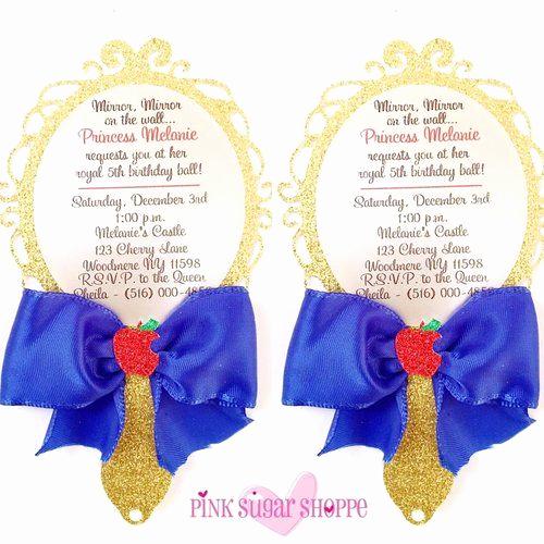 Snow White Mirror Invitation Luxury the 25 Best Snow White Invitations Ideas On Pinterest