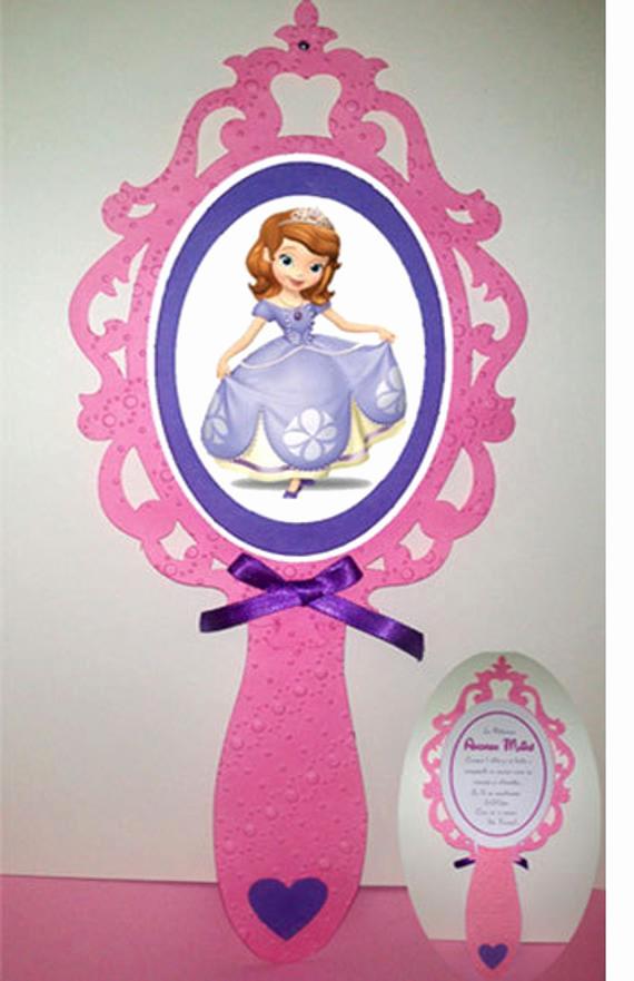 Snow White Mirror Invitation Unique sofia the First Mirror Invitation Snow White Mirror