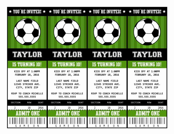 Soccer Invitation Template Free Awesome soccer Invitations soccer Ticket Invitation soccer