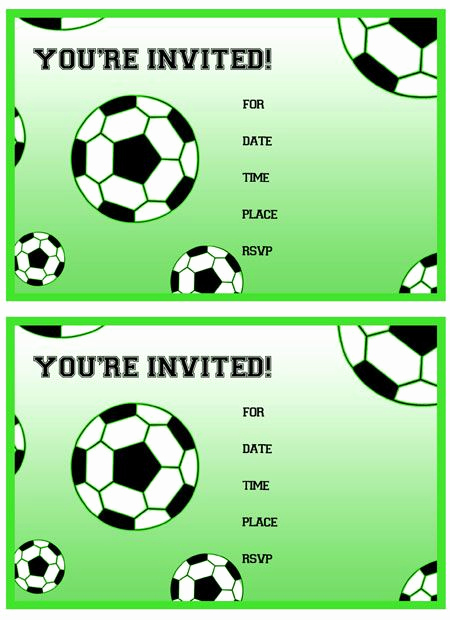 Soccer Invitation Template Free Beautiful Free Printable soccer Birthday Party Invitations From