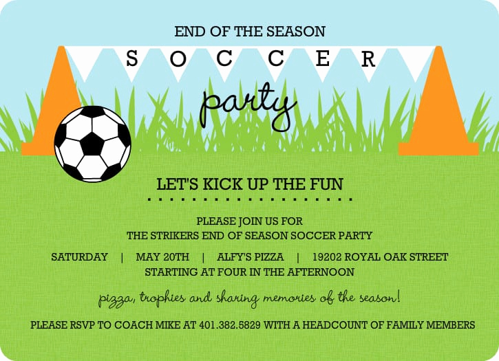 Soccer Invitation Template Free Beautiful soccer Invitation Template