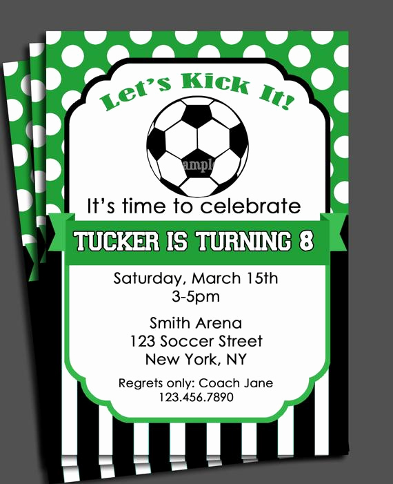 Soccer Invitation Template Free Elegant soccer Invitation Printable or Printed with Free Shipping