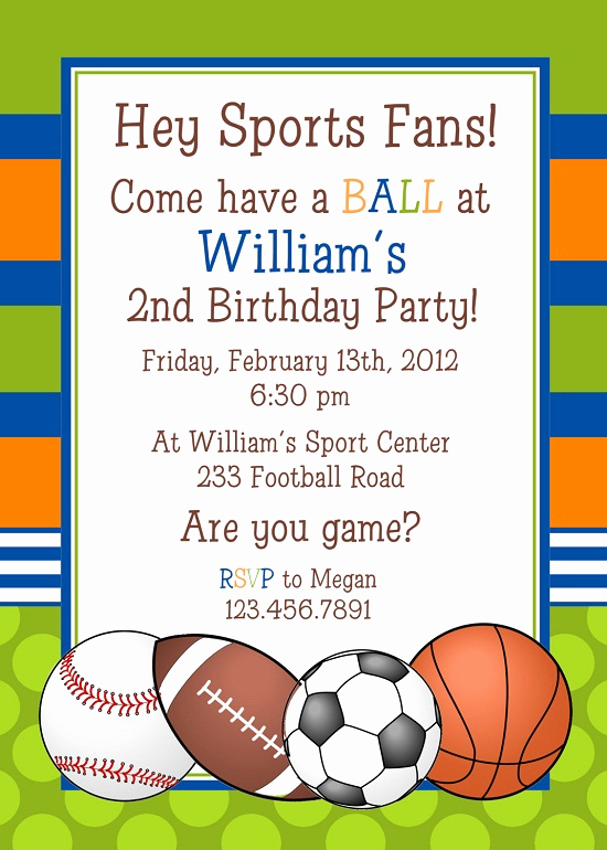Soccer Invitation Template Free Elegant Sports Birthday Invitations Ideas – Bagvania Free