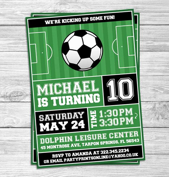 Soccer Invitation Template Free Fresh soccer Football Birthday Party Invitations for Kids Party
