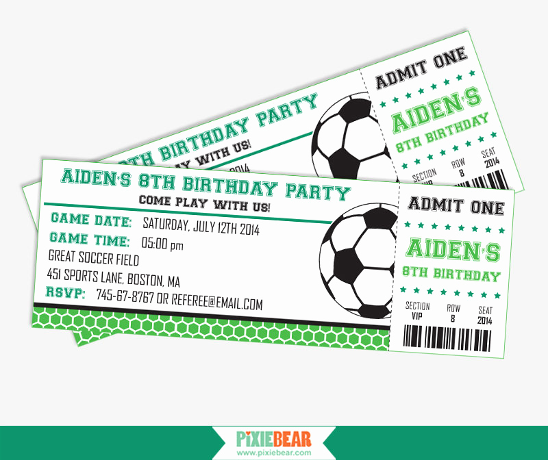 Soccer Invitation Template Free Fresh soccer Party Invitation soccer Birthday Invitation soccer