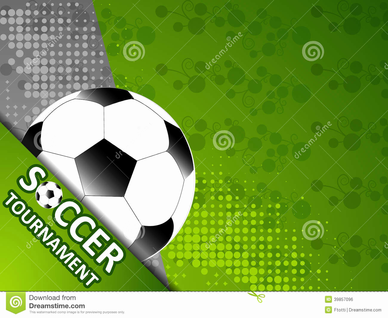 Soccer Invitation Template Free New Template for the Invitation soccer tournament Stock Vector