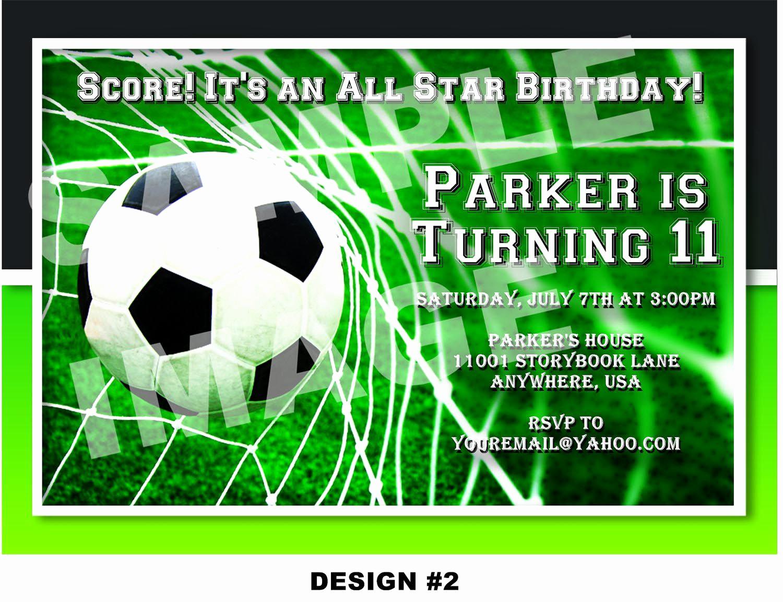 Soccer Invitation Templates Free Awesome Geburtstagskarte Fussball Selber Basteln