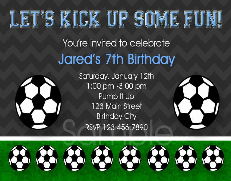 Soccer Invitation Templates Free Awesome soccer Birthday Invitation Template
