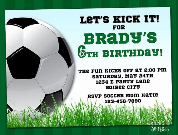Soccer Invitation Templates Free Best Of Printable Birthday Invitations for