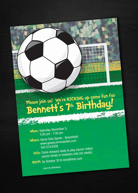 Soccer Invitation Templates Free Best Of soccer Birthday Invitations by Sassy Party Designs