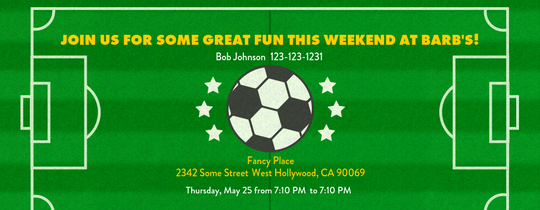 Soccer Invitation Templates Free Fresh Free soccer Line Invitations