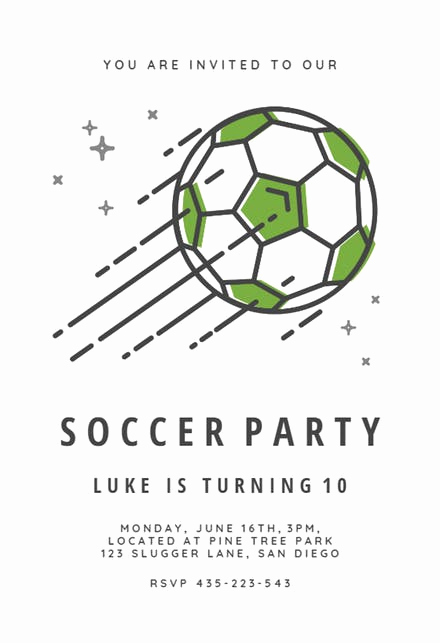 Soccer Invitation Templates Free New Sports & Games Invitation Templates Free