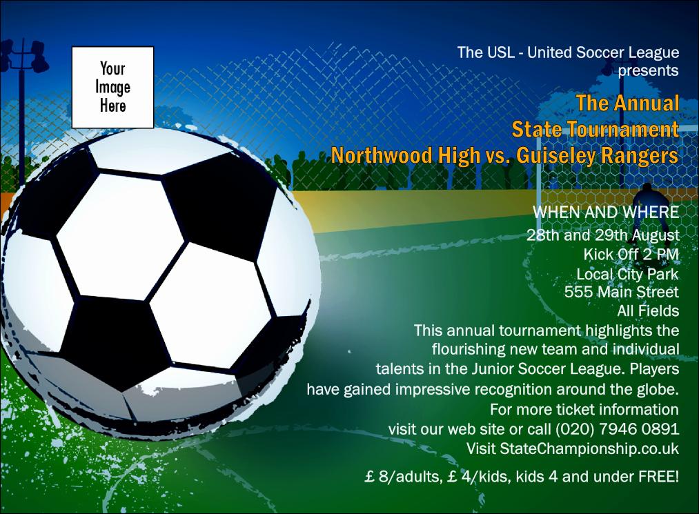 Soccer Invitation Templates Free Unique Football Invitation