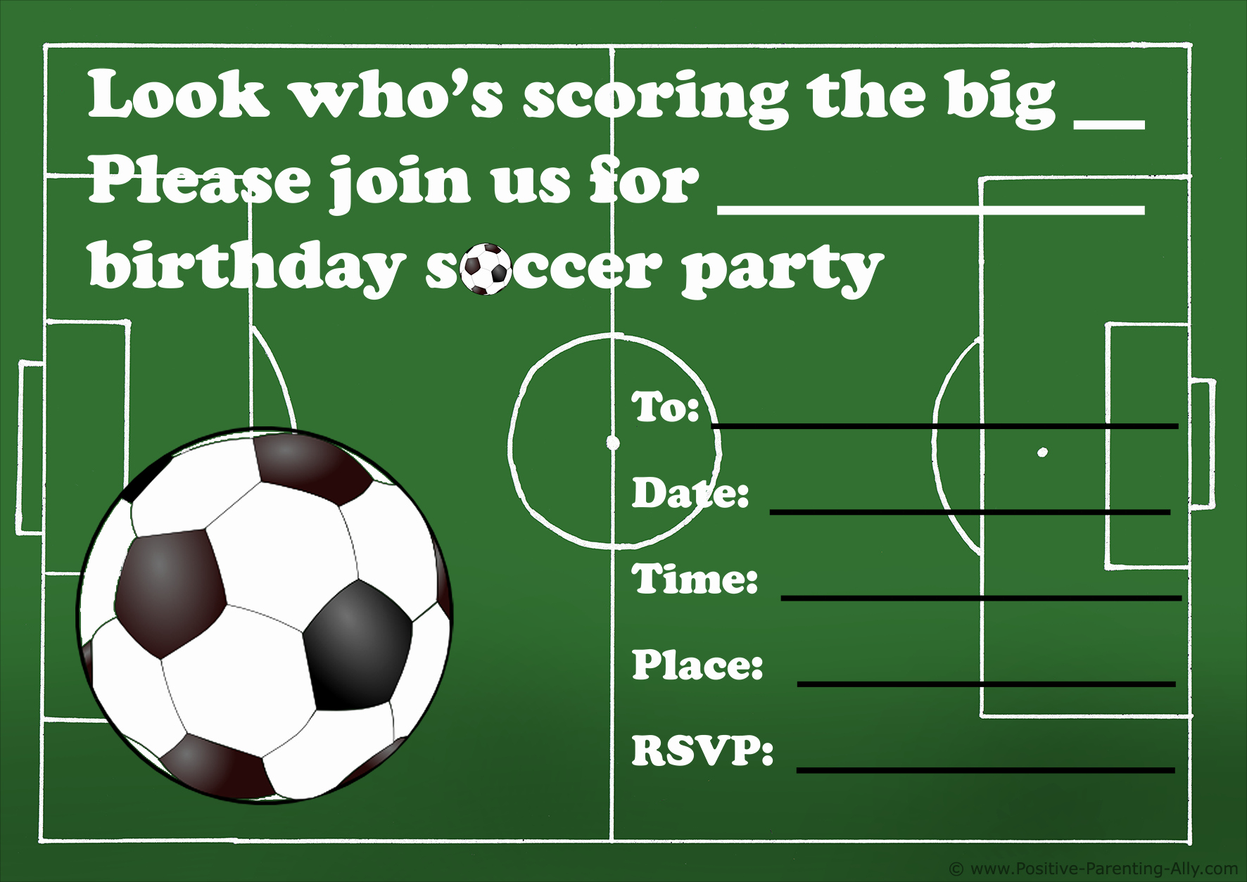 Soccer Invitation Templates Free Unique Free Printable Birthday Party Invitations for Kids High