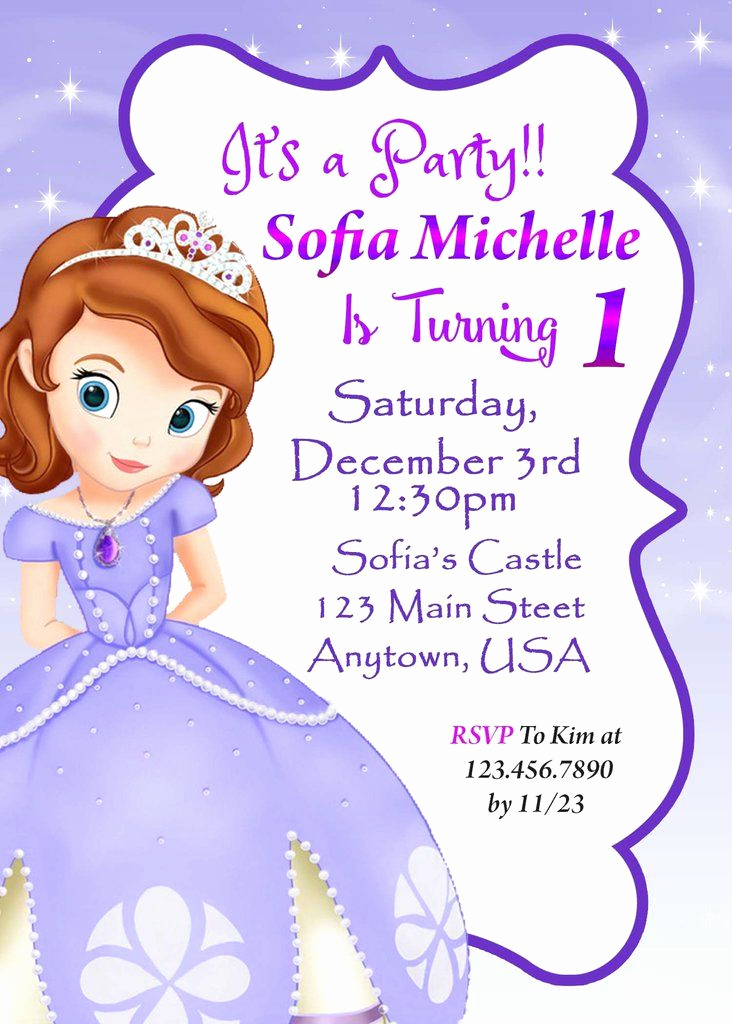 Sofia the First Invitation Best Of 9 Best sofia the First Party Ideas Images On Pinterest