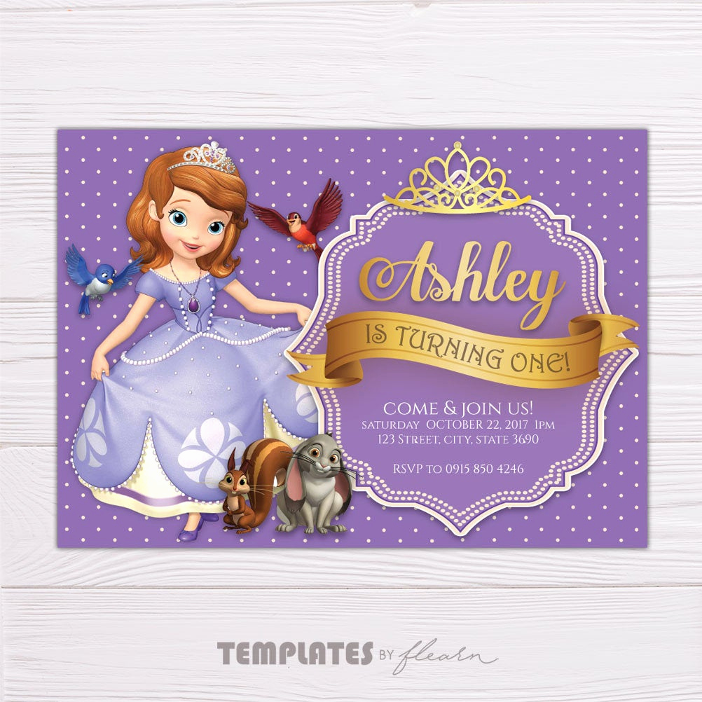 Sofia the First Invitation Best Of sofia Invitation sofia the First Invitation sofia Printable