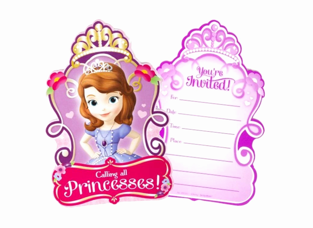 Sofia the First Invitation Inspirational sofia the First Party Supplies