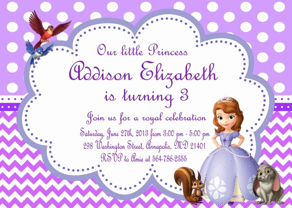 Sofia the First Invitation Lovely 35 Best Images About sofia the First Party On Pinterest