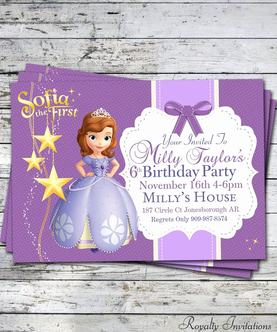 Sofia the First Invitation Lovely Best 25 Princess sofia Invitations Ideas On Pinterest