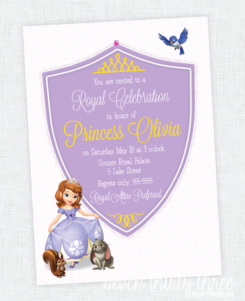 Sofia the First Invitation Lovely sofia the First Birthday Party Invites Inspiration Made
