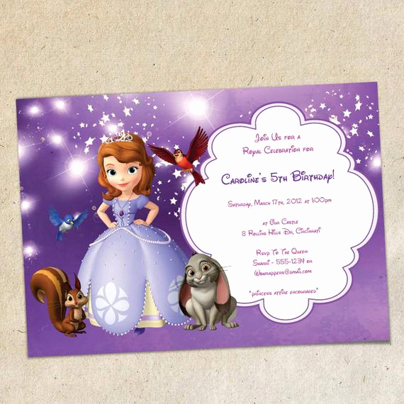 Sofia the First Invitation Luxury sofia the First Party Invitation Template Instant Download