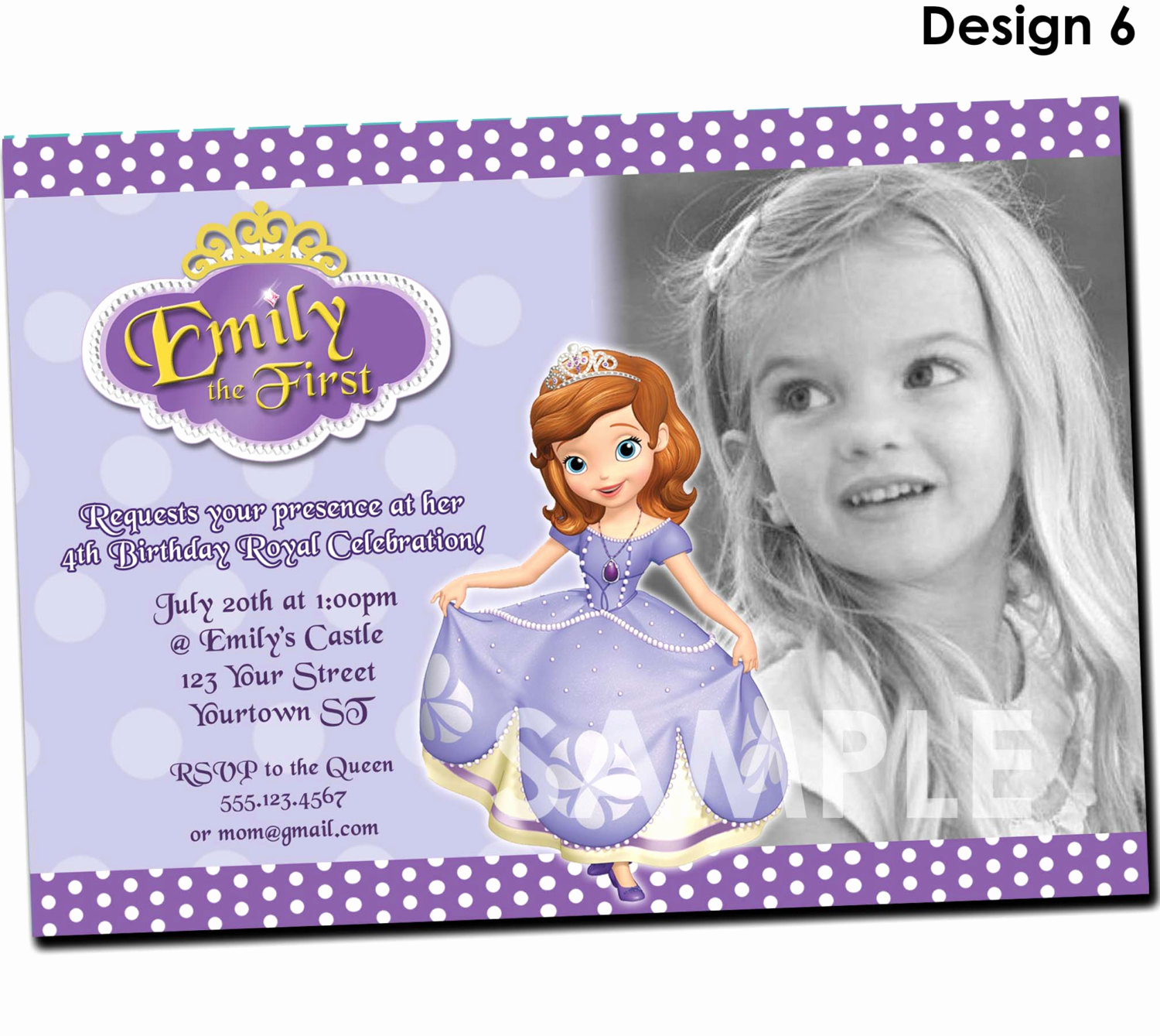 Sofia the First Invitation New Princess sofia Birthday Invitations Ideas – Bagvania Free