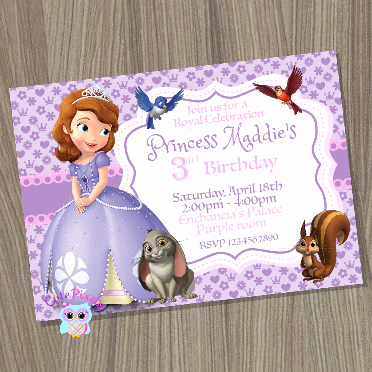 Sofia the First Invitation New sofia the First Invitation Princess sofia Invitation