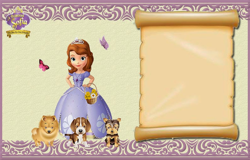 Sofia the First Invitation Template Awesome sofia the First Free Printable Invitations or Frames