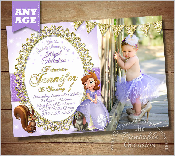 Sofia the First Invitation Template Beautiful 33 Party Invitation Templates Free Psd Vector Eps Ai