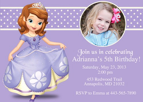 Sofia the First Invitation Template Fresh Princess sofia Birthday Invitations Ideas – Bagvania Free