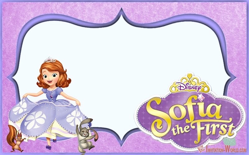 Sofia the First Invitation Template Inspirational sofia the First Free Line Invitation Templates