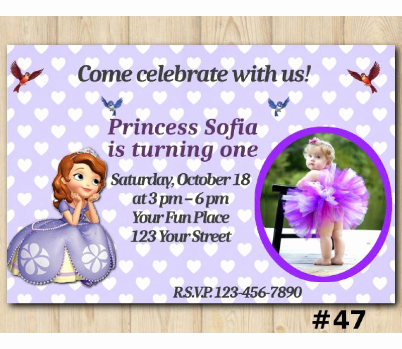 Sofia the First Invitation Template Lovely sofia the First Birthday Invitation sofia the First