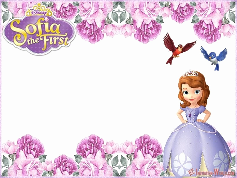 Sofia the First Invitation Templates Awesome sofia the First Free Line Invitation Templates