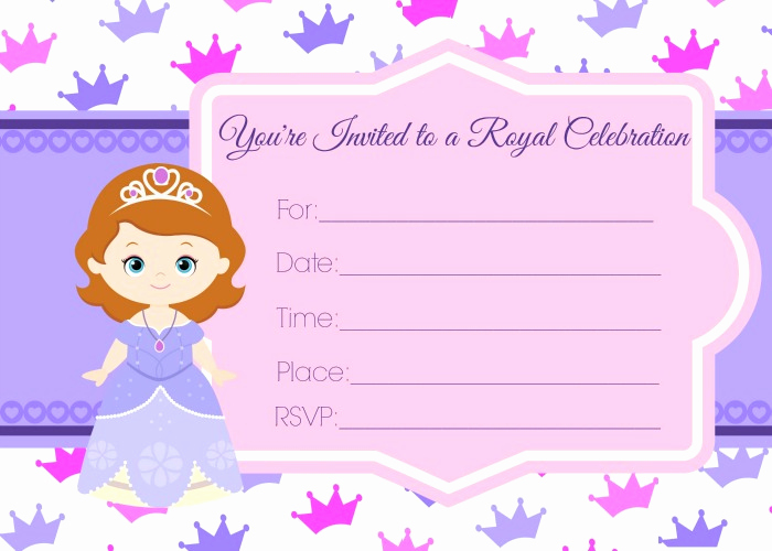 Sofia the First Invitation Templates Elegant sofia the First Birthday Invites