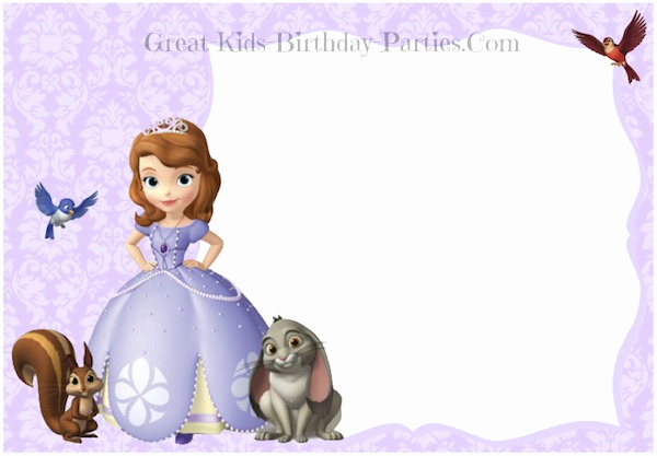 Sofia the First Invitation Templates Inspirational sofia the First Invitations