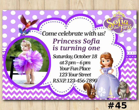 Sofia the First Invitation Templates New Disney sofia the First Birthday Invitation sofia the