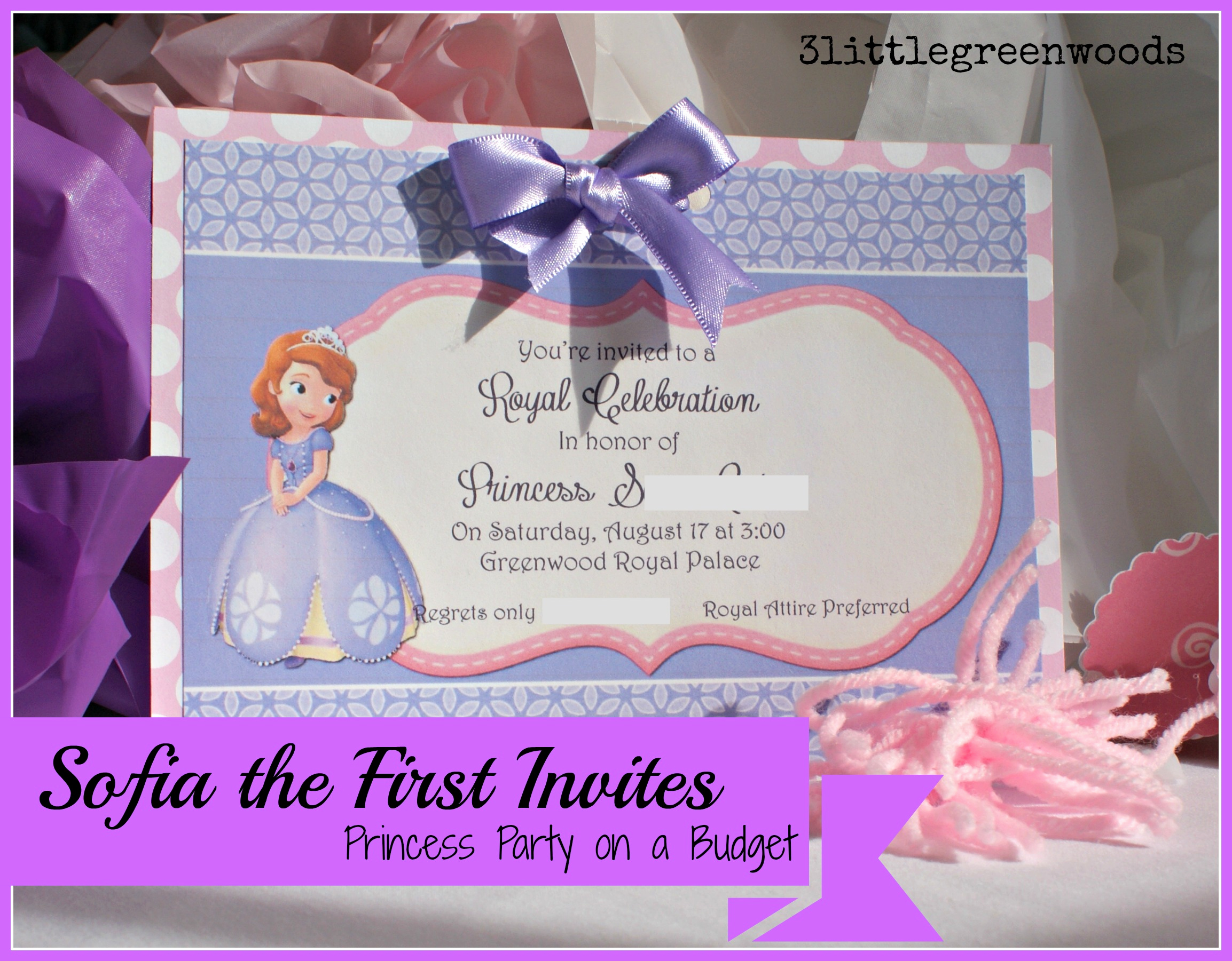 Sofia the First Invitation Unique sofia the First Birthday Invites