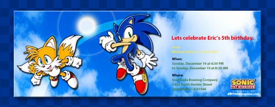 Sonic the Hedgehog Invitation Template Awesome Invitations Free Ecards and Party Planning Ideas From Evite