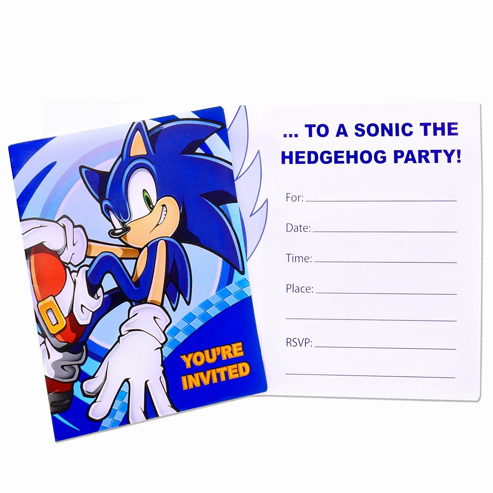 Sonic the Hedgehog Invitation Template Awesome sonic the Hedgehog Invitations
