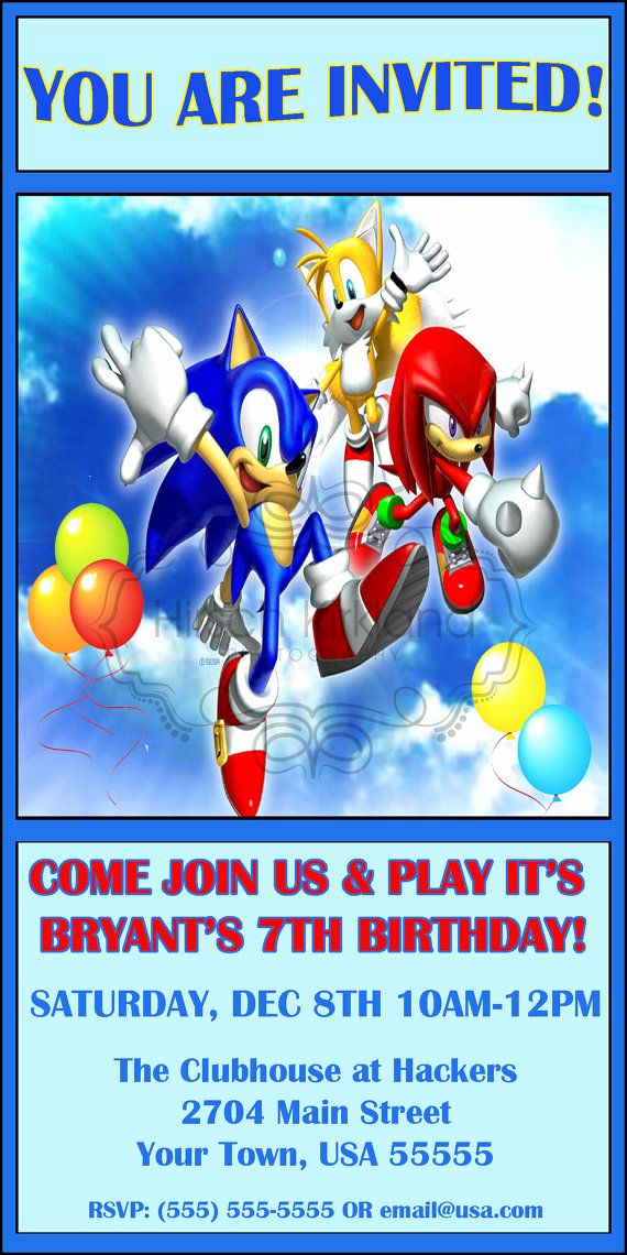 Sonic the Hedgehog Invitation Template Best Of 17 Best Images About sonic On Pinterest