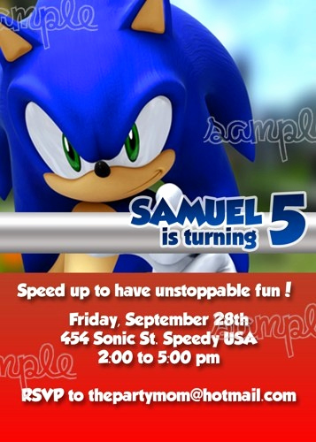 Sonic the Hedgehog Invitation Template Elegant 17 Best Images About sonic Party On Pinterest