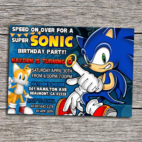 Sonic the Hedgehog Invitation Template Luxury sonic Birthday Party Invitation Digital by Dottydigitalparty