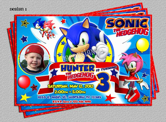 Sonic the Hedgehog Invitation Template New sonic the Hedgehog Birthday Party by Cgcdesignz