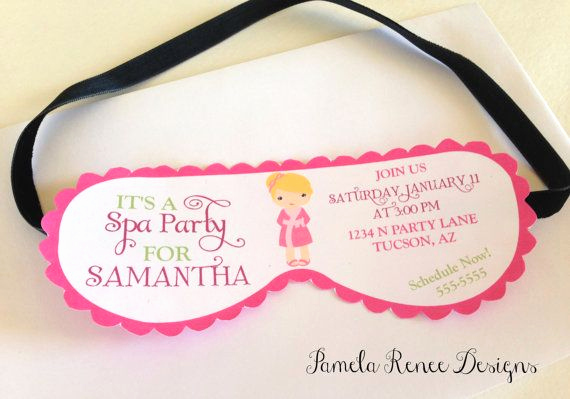 Spa Invitation Template Free Elegant Printable Spa Party Mask Invitation with Your Choice Of