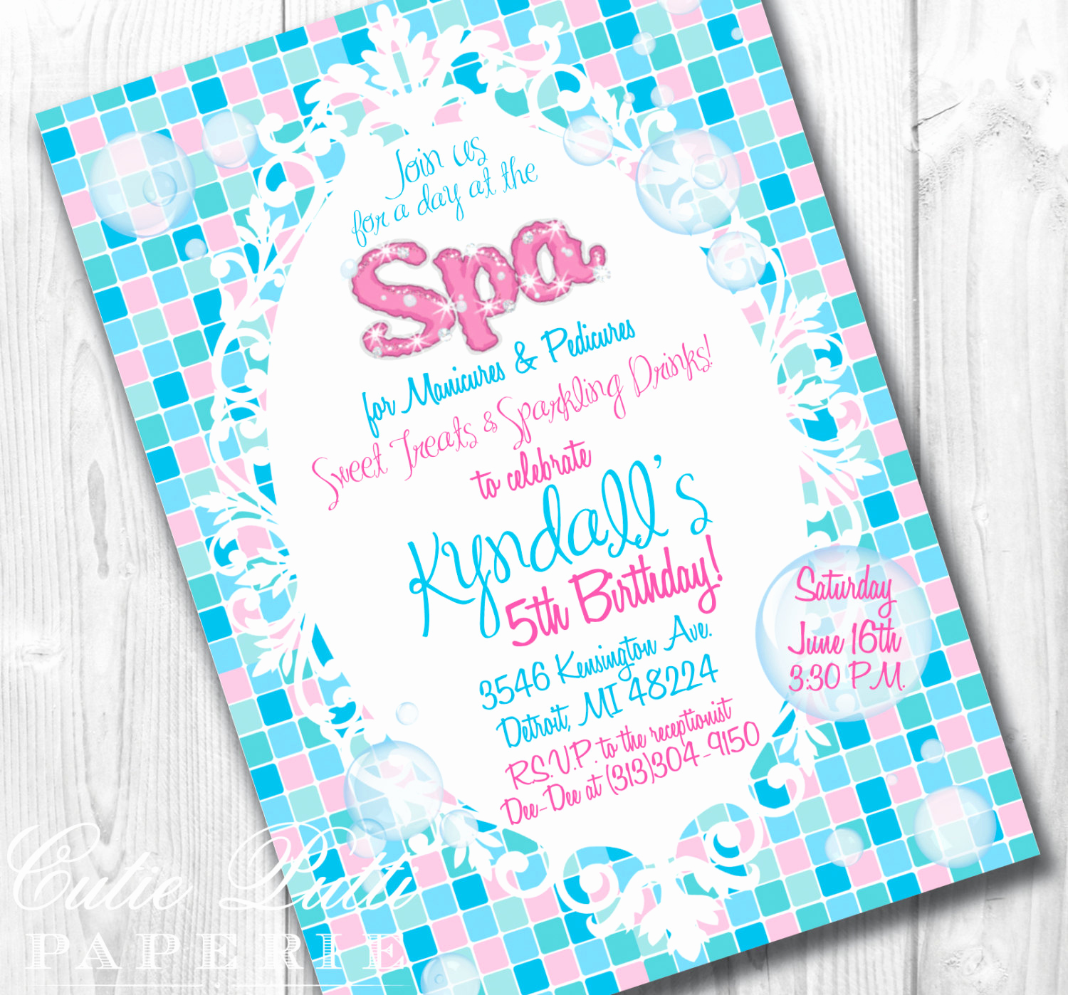 Spa Invitation Template Free Fresh Spa Party Invitations Printable Custom Invitations by Cutie