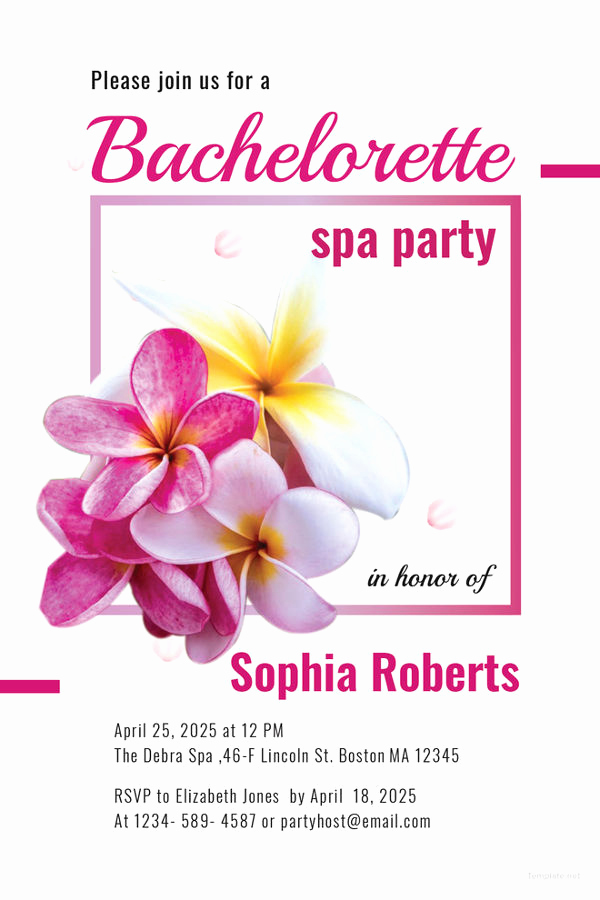 Spa Invitation Template Free New 10 Spa Party Invitations Free Sample Example format